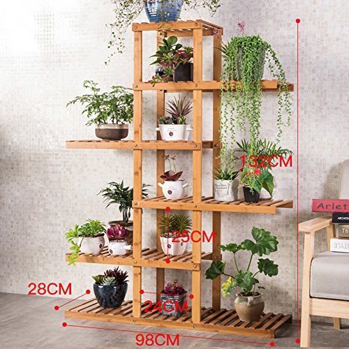 Flower Racks Flower stand Plant stand Plant flower pot rack Display shelf Shelf holds Wood plant stand Balcony Solid wood Indoor Living room-D by DECORATION