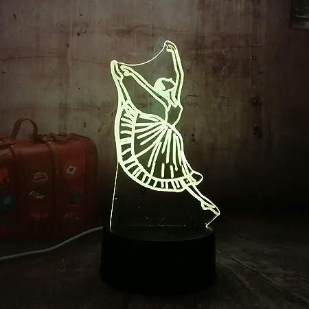 ZCHPDD Ántica Led Acrílico 3D RGB Luz Nocturna Lámpara De Mesa USB ...