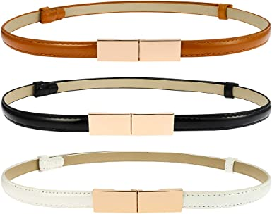 Assembled in USA Womens Fashion Gold Leatherette Classy Everyday Belt