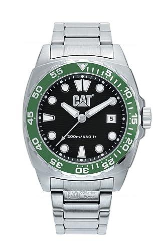 Caterpillar Diver CA1025 - Reloj de Caballero de Cuarzo, Correa de Acero Inoxidable Color Plata: Amazon.es: Relojes