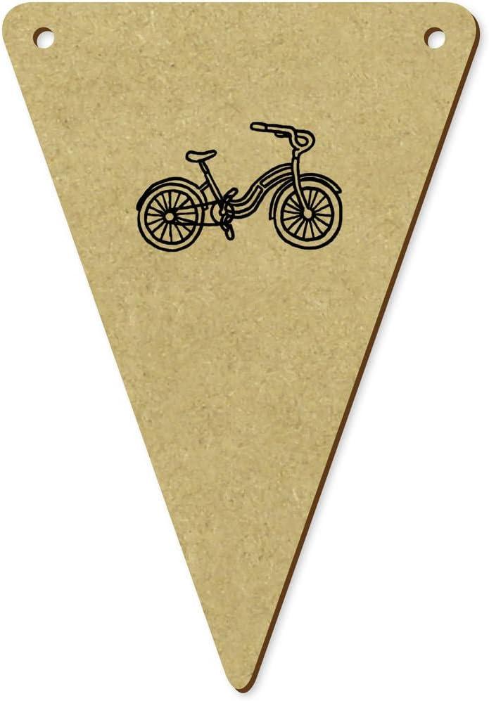 5 x 100mm Bicicleta de Vista Lateral Banderines / Banderas ...