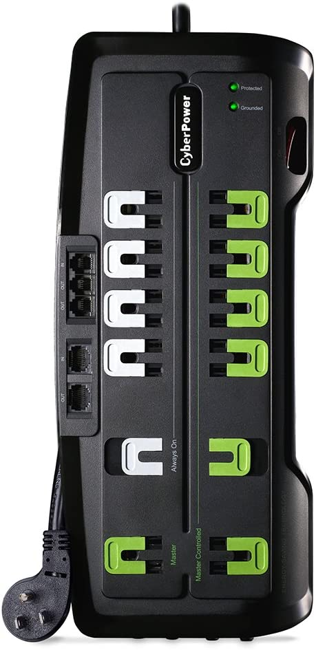 CyberPower CSHT1208TNC2G Home Theater Surge Protector