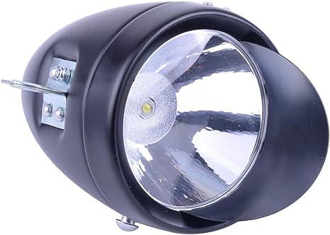 Chrome Vintage Retro Bicycle Headlight Bike LED Front Head Light Night Fog Lamp