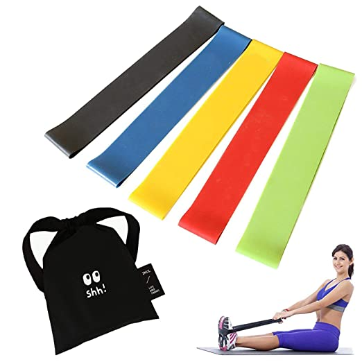 GOUPPER Resistance Bands Set,Exercise Loop Bands 5 Levels ...