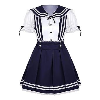 IEFIEL Disfraz de Colegiala para Niñas Uniforme Escolar japonés de ...