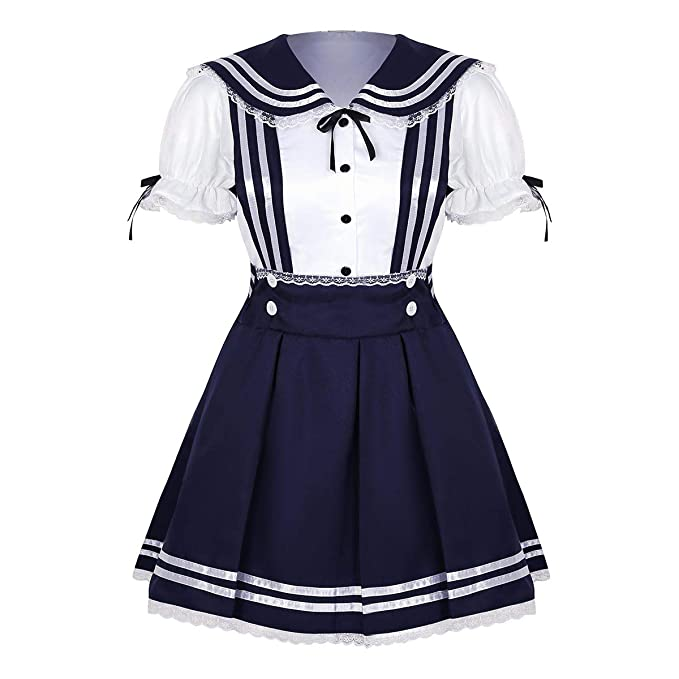 iixpin Disfraz de Colegiala Japonesa para Mujer Uniforme Escolar ...