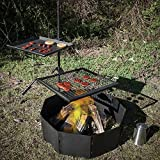 campfire grill swivel - Titan Campfire Adjustable Swivel Grill Cooking Grate Griddle 40