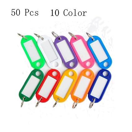 chooseu llavero 50pcs 10 colores plástico Clave etiqueta ...