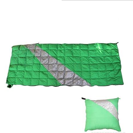 envolvente exterior hacia abajo saco de dormir pliega como una almohada para acampar solo para adultos