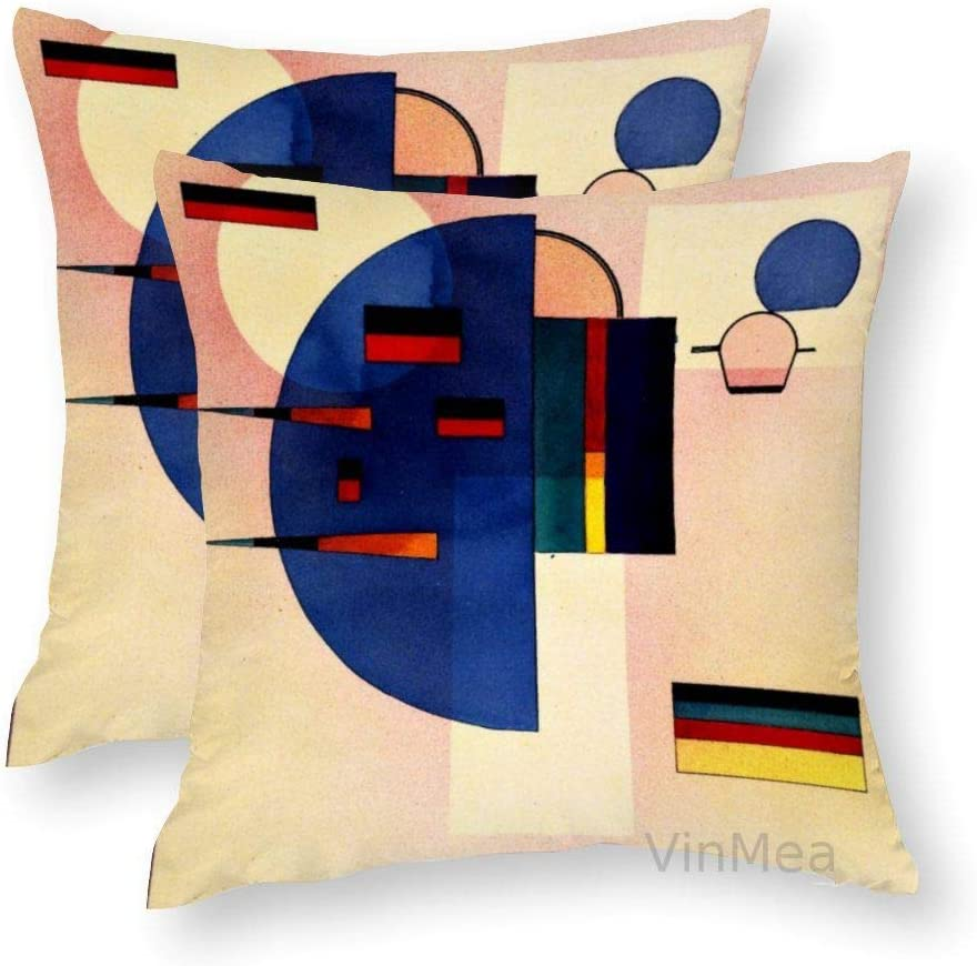 VinMea Set of 2 Decorative Square Pillow Cases 20x20 Inches, Kandinsky - Calmed Throw Pillow Covers Couch Case for Home/Office Decor