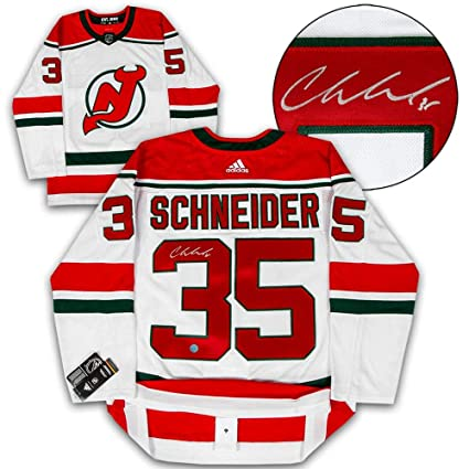 best sneakers 84a4e edb22 Cory Schneider Signed Jersey - Alternate Adidas ...