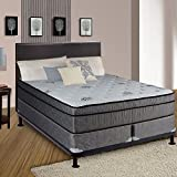 Continental Sleep Fifth Ave Collection, Fully Assembled  Mattress Set With 13'' Soft Euro Top Orthopedic King Mattress and 8'' Split Box Spring