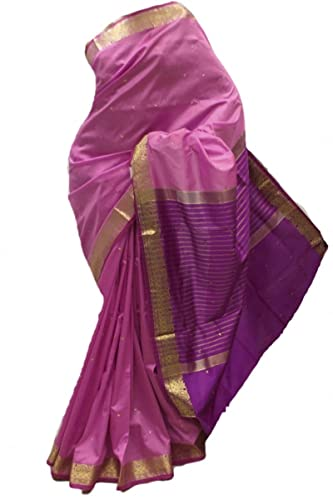 ASB3602 rosa e viola Arte della Seta Saree Indian Art Silk Saree Curtain Drape Fabric Unstitched Blo...