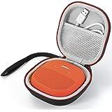 Custodia da viaggio rigida da trasporto per altoparlante Bose SoundLink Micro Bluetooth - Compatibile con cavo USB e altri accessori. - Nero