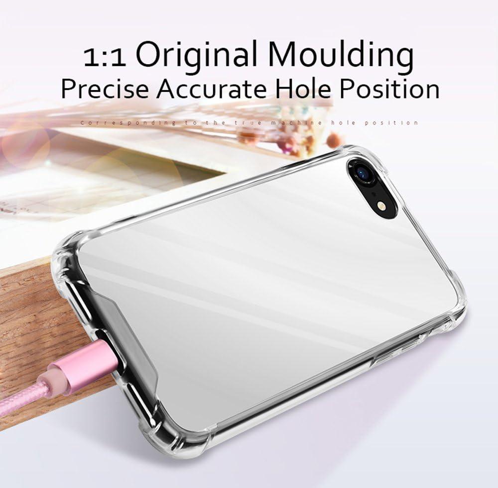 iPhone 7 Plus//iPhone 8 Plus Case for Women Girls Opretty Luxury Glitter Ultra-Thin Mirror TPU PC Back Protect Case for iPhone7 Plus//iPhone 8 Plus Cover Reflect Girly Cute Case-Silver