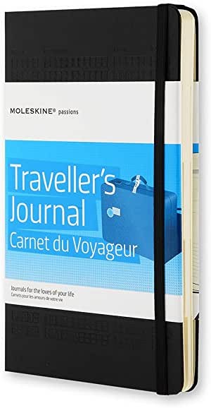 "Moleskine Passion Journal, Travel, Hard Cover, Large (5"" x 8.25"") Black, 400 Pages"
