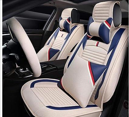 amazon com hfftlh full set of car seat covers, universal breathablehfftlh full set of car seat covers, universal breathable linen car seat protection mats,