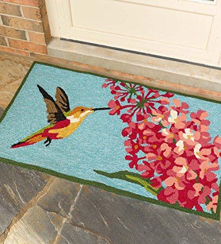 (Hummingbird and Lilac Indoor/Outdoor Accent Rug, 24 x 42)