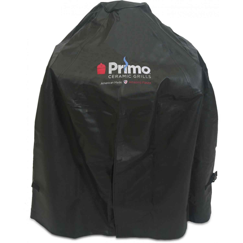 Primo 413 Grill Cover for Primo Oval Junior Grill in Cradle