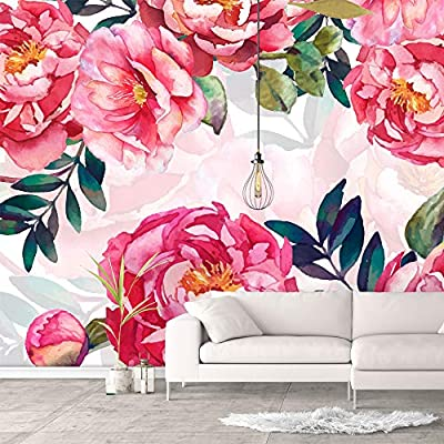 Elegant Piece, Made With Love, Wall Murals for Bedroom Green Plants Animals Removable Wallpaper Peel and Stick Wall Stickers