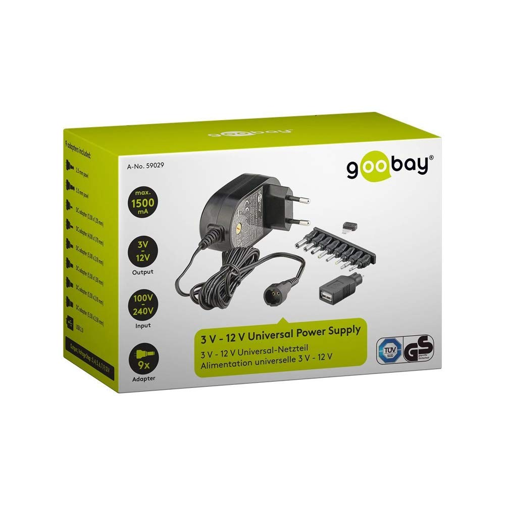 Goobay 59031/Alimentatori PC Nero