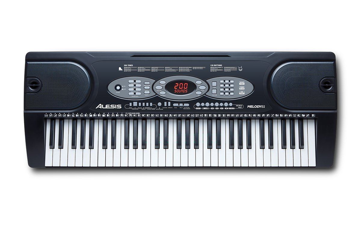 Alesis Melody 61 MKII - 61-Key Portable Keyboard with Built-In Speakers, Headphones, Microphone, Piano Stand, Music Rest and Stool inMusic Brands Inc. Melody61MKII