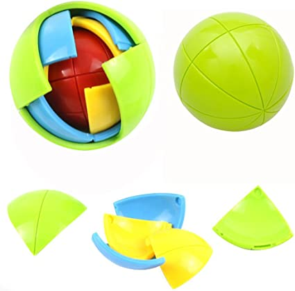 2× DIY Assembly Jigsaw 3d Puzzle Intellectual Ball Learning Kid Education Toy HI