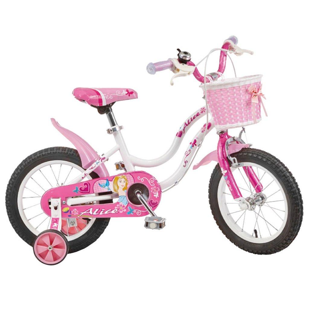 子供の自転車ハイカーボンスチールベビーバイク2-4歳の自転車12インチキッズベビーカー、ピンク/ピンクホワイト (Color : Pink white) B07CV92QBP
