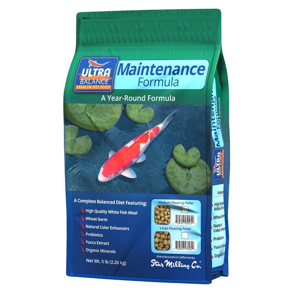 Ultra Balance Premium Maintenance Formula Medium Pellet Koi Fish Food (5lb)