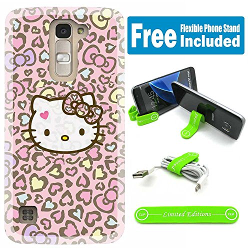 [Ashely Cases] ZTE Zmax Pro Cover Case Skin with Flexible Phone Stand - Hello Kitty Hopi V (Hello Kitty Phone Case For A Zte)