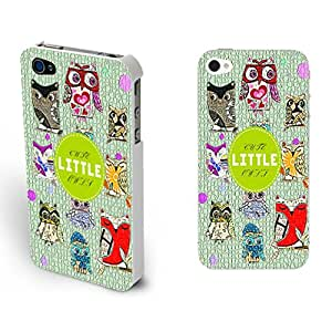 Personal Cute Owls Pattern Iphone 4 4s Cover,green Back Hard Plastic Phone Protector
