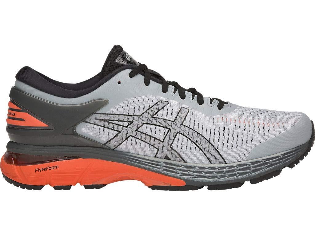 ASICS Men's Gel-Kayano 25 Running Shoes, 9M, MID Grey/NOVA Orange