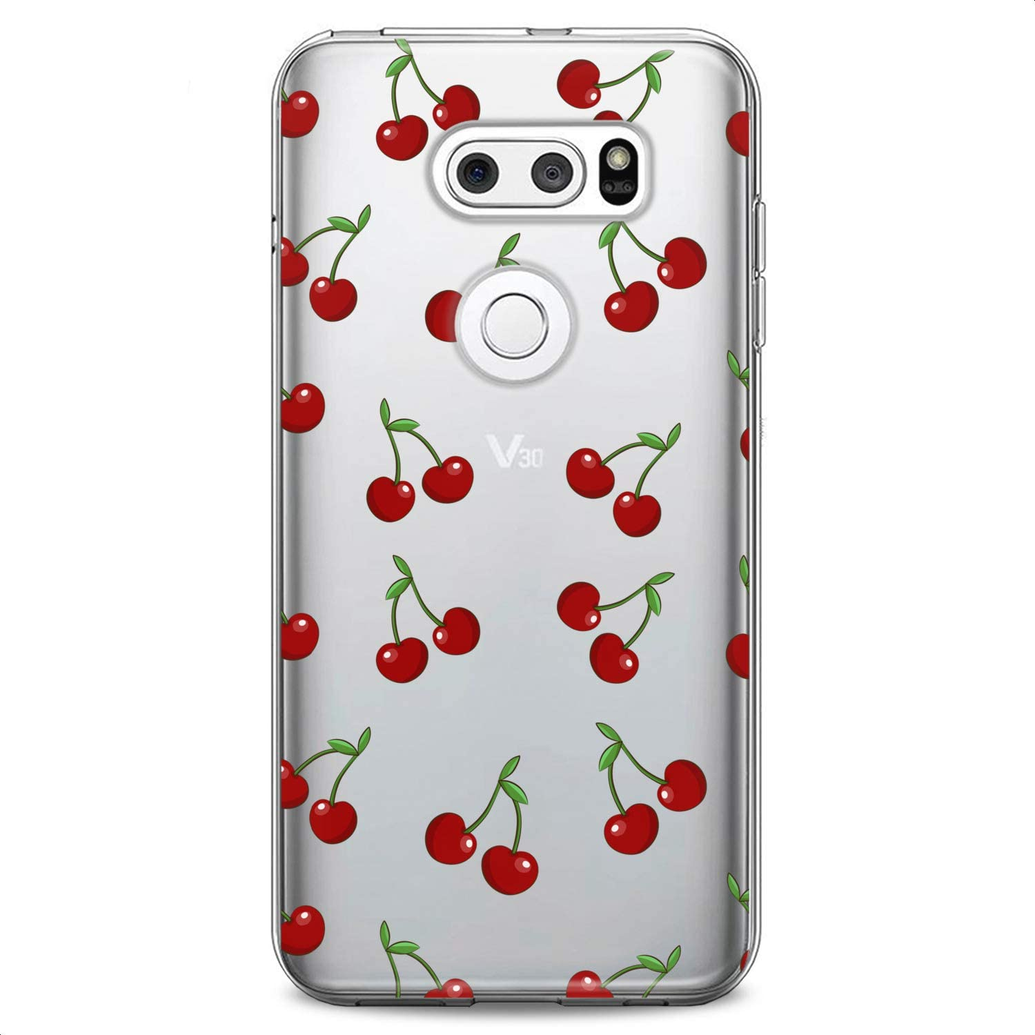 Cavka TPU Case Replacement for LG Stylo 6 K61 K51S K42 K30 K20 Stylo 5 K40 K11 K10 K8 Cherry Soft Red Lovely Tropic Food Fruit Clear Summer Print Design Flexible Silicone Slim fit Cute Cute Luxury