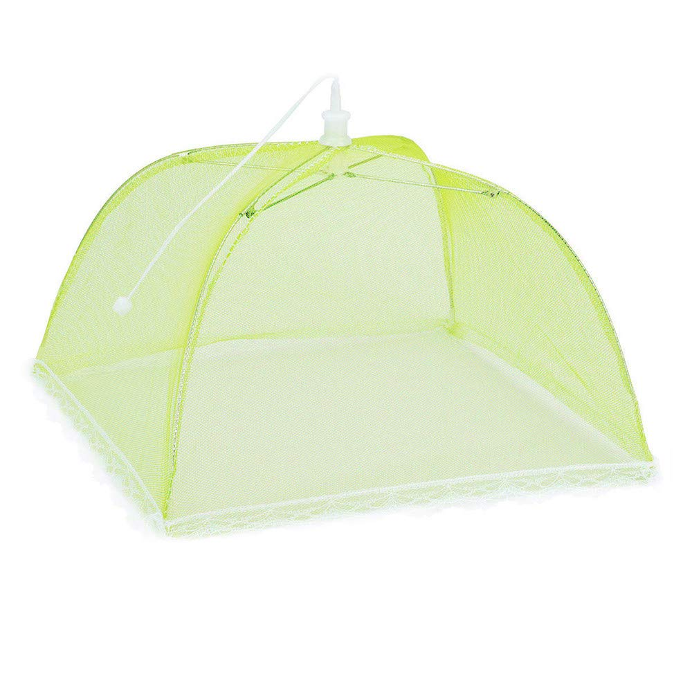 Hisoul Food Cover Tents - Collapsible and Washable Pop Up Mesh Screen Food Cover Tents Picnic BBQ Plate Umbrella Protector - Food Protector Tent Keep Out Flies, Bugs, Mosquitoes (Random) by Hisoul (Image #5)