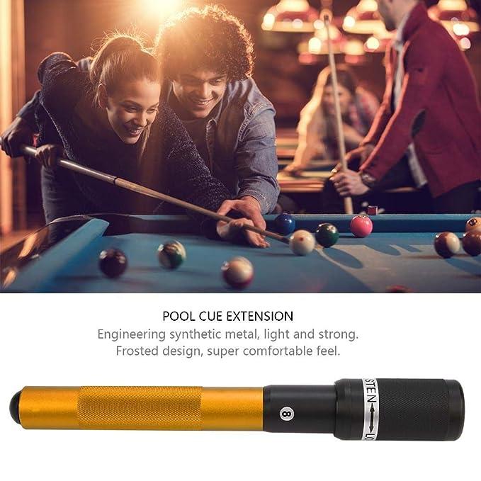 Dioche Pool Queue Verl/ängerung 12,6 Zoll Aluminiumlegierung Billard Extreme Extender Teleskopverl/ängerung
