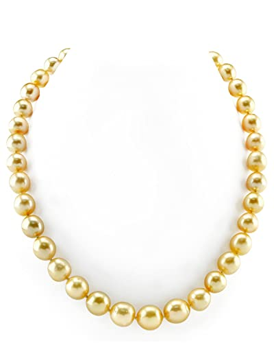 0ba83e15d9dff Amazon.com: THE PEARL SOURCE 14K Gold 9-12mm Oval Shaped Genuine ...