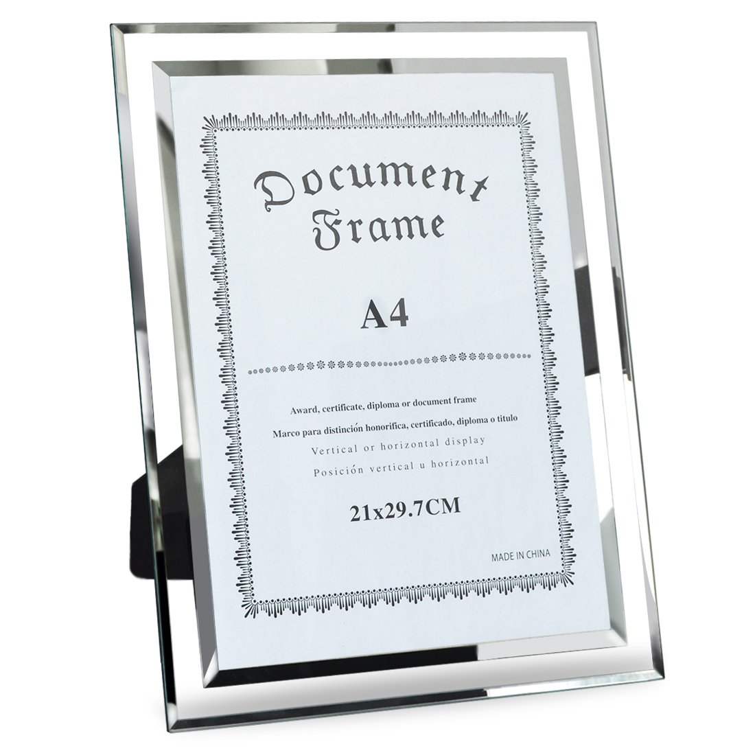 Giftgarden A4 Size Certificate Document Frame Tabletop Display, 21x29.7cm by Giftgarden