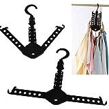 Space Saver Foldaway Folding Magic Hangers Hanger Rack for Clothes Outdoor Closet Organizer -Pier 27