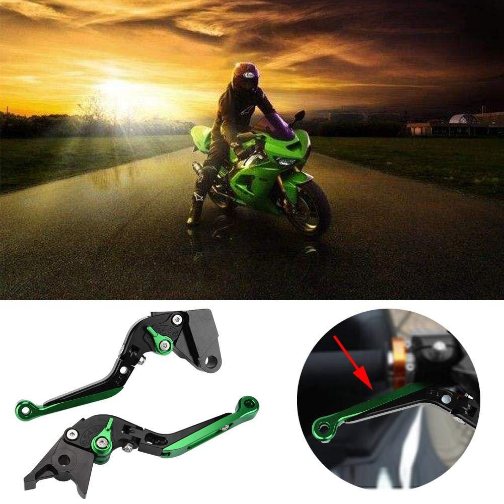 verde KIMISS Leve frizione pieghevole regolabile in alluminio CNC per moto per Z900 17-18