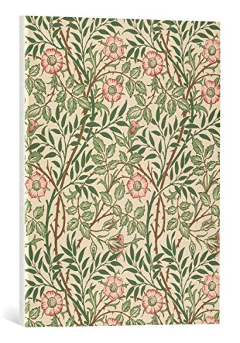 kunst für alle Canvas Print: William Morris Sweet Briar Design for Wallpaper Printed John Henry… Fine Art Print, Canvas on Stretcher, Ready to Hang Wall Picture, 18x24 inch (Fine Art Modern Masters)