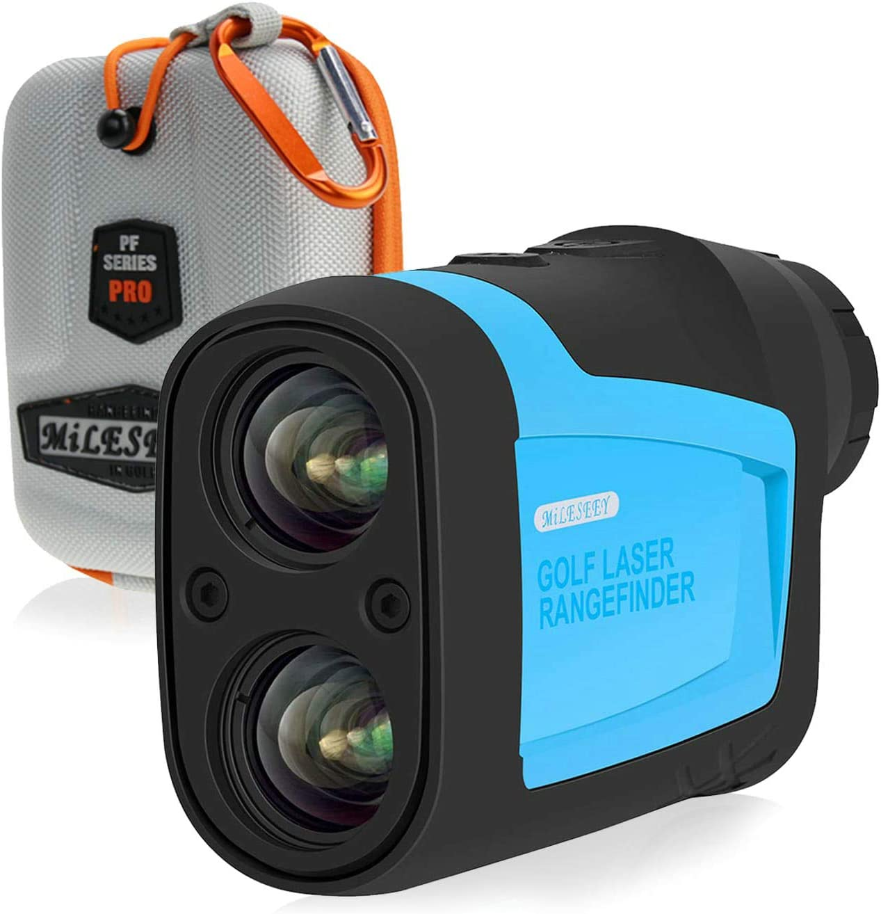 MiLESEEY Golf Rangefinder Laser Binoculars 660 Yard 6X Magnification with Slope Pin Scanning Model for Golf Training