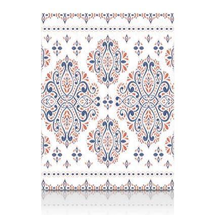 Amazon.com: Canvas Print Wall Art Beautiful Blue Orange Floral ...