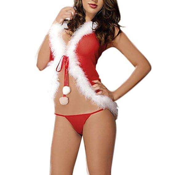 Ropa interior de lencería de Navidad, RETUROM Navidad invierno cálidas mujeres ropa interior encantadora juegos (A): Amazon.es: Ropa y accesorios