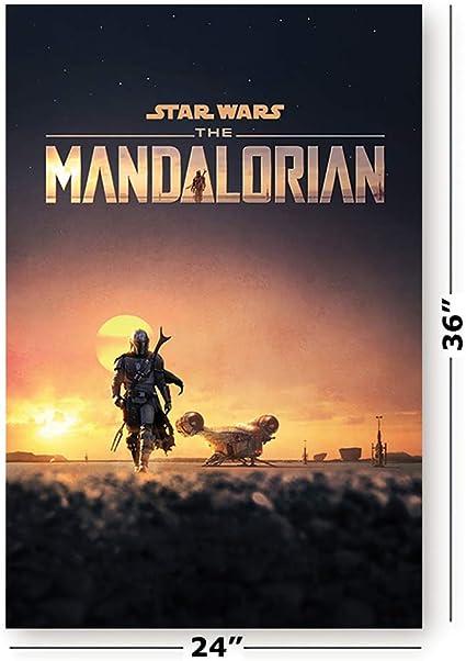 The Mandalorian TV Series Star Wars Season 1 Season 2 PosterA5 A4 A3 A2 A1