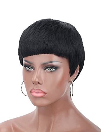 Amazon Kalyss 5 Short Black Wigs For Women Pixie Cut Wig