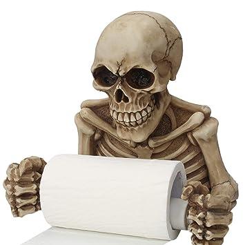 Lorenlli Novedad Forma de cráneo Tissue Holder Colgar en la pared Baño de la cocina Papel higiénico Rack de toallas Estante Titular de plástico Artículos ...