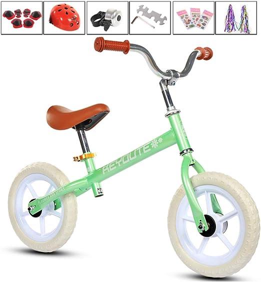 shuhong Bicicleta Sin Pedales para Niños Ligero con Casco EVA ...