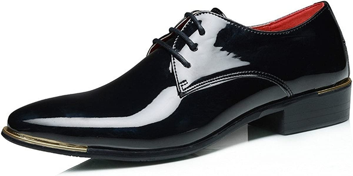 Mens Lace Up Formal Modern Oxford Dress Shoes Fashion Leather Shoes Business Shoes