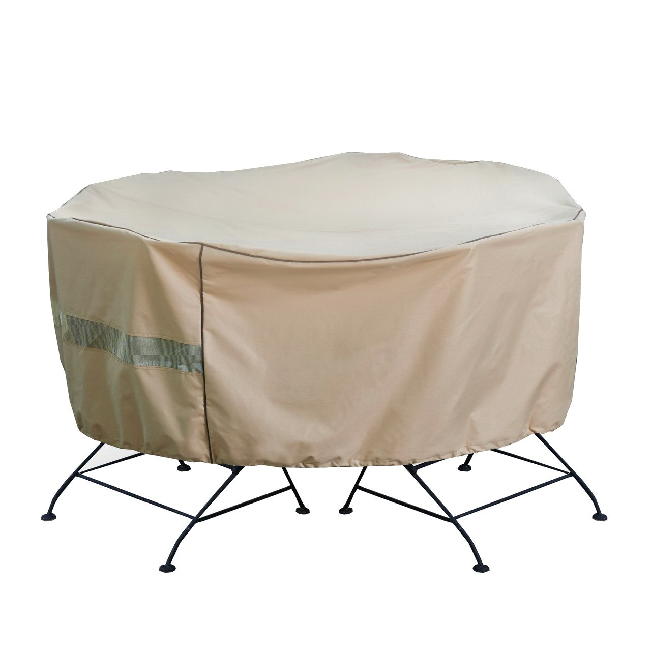 Seasons Select CVP01461 Round Table and Chair Set Cover, Almond