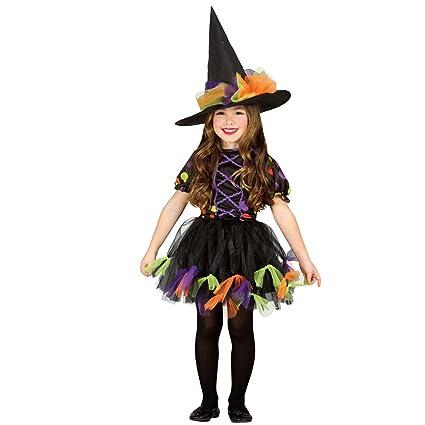 Amakando Vestido hechicera Malvada Infantil Disfraz Bruja ...